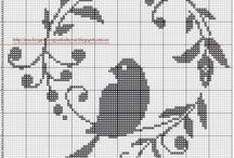 Cross-stitch monochrome pattern / by Lora Zaitseva