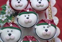marcipán cupcake