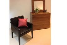 Contemporary New Walnut Or Wenge Satin Oak Wood Veneer Five Drawers Morgan Chest
