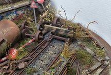 dioram, model railroad -  pomysły