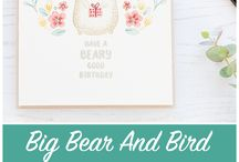 Products: Waffle Flower Crafts- Bear and Bird