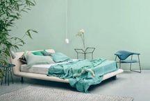 camera da letto verde acqua