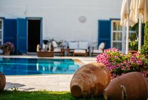 Relax @ BeyEvi / Enjoy the Aegean sun in our courtyard, refreshing cocktails at our pool bar or homemade pastries together with your five a clock tea.