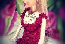 Roupa para Barbie em crochê.