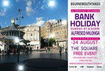 Bournemouthtango - Dance Argentine Tango Al Fresco in Bournemouth Town Square! / Come and enjoy outdoor Tango dancing in Bournemouth Town Square! August Bank Holiday Sunday Evening ATMOSPHERIC Outdoor milonga