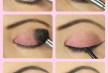 Ojos en tonos rosas