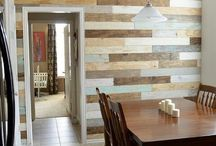 Reclaimed Wood - Accent Walls / Inspirational ideas for our reclaimed / pallet wood accent walls