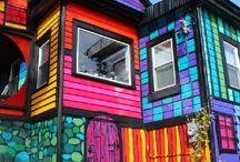 раскраска домиков