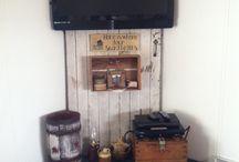 Lounge, fireplace, tv