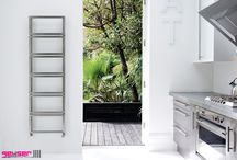 Towel Rails: Brushed Stainless