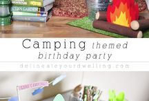anniversaire theme camping