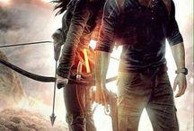 Lara Croft and Nathan Drake