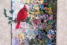 Pattern watercolor quilting