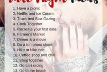 Date Night Ideas / Here are some cute date night ideas for you and your spouse! It's always fun to continue to go on dates even after you get married!