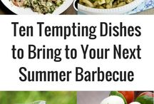 Barbecue Dishes / Barbeques are a big part of life in South Africa. There are so many recipes you can make on the barbeque! #HarassedMom #bbq #barbeque #braai #recipes