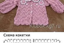 πλεχτά ρούχα, bebe και παιδικά με βελονάκι