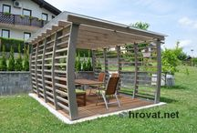 Pergolas / The wide offer of wooden pergolas shading your terrace. There are pergolas made of spruce and Siberian larch.