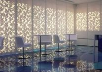 Glass backlights wall / A wall is a dividing a room from an other but it could also be a light source and a decoration one. This effect could be futuristic or luxury (alabaster effect).
