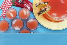 Football Food & Desserts! / Hosting a big football game party at your house and aren't too sure about what to make? Check out these cool recipes! They are sure to hit a touch down with your guests!