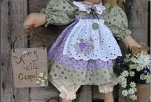 Dolls / Dolls made of felt instructions / by Vickie Parsons