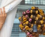 Putting curlers in your hair