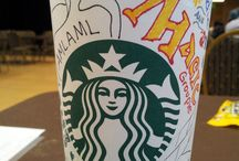 Starbucks cups / These are the Starbucks cups I have drew on for a friend during his Magic Tournament conventions. It gave me something to do while he played magic all day.