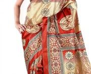 Pretty Silk Printed Saree With Blouse Only @450 / Pretty Silk Printed Saree With Blouse.It has printed work on it which gives a beautified look to you,Silk,printed designing work on it with half sleeves blouse. RS.450 http://www.nallucollection.com/