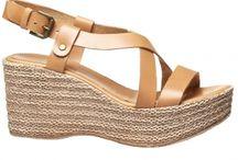 sandale cu toc ,imitatie de canepa
