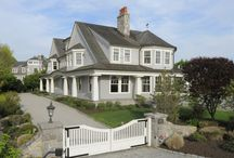 7 Little Cove Place, Old Greenwich CT /   This waterfront shingle style home has exceptional light throughout and water views from most rooms. Glorious vistas of the sailing inlet, Greenwich Cove & Long Island Sound. Generously scaled main floor featuring wood-paneled living room, sunny great room, gourmet kitchen, butler's pantry & corner playroom-office. Master suite, four bedrooms with ensuite baths and a third floor gym and game/media room. Membership available for private beach, Little Cove.