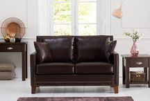 Sofas & Armchairs / Genuine, Faux Leather Sofas & Armchairs For Living Room