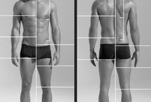 male head & body references