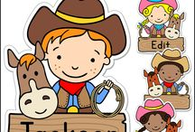 Western Theme Classroom / Create a fun classroom with Pink Cat Studio's Western Cowboy and Cowgirl theme classroom decor!