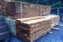 Railway sleepers / From raised beds for flowers or vegetables through to retaining walls, ponds, bridges, steps and even garden furniture. Your imagination is the only limitation.