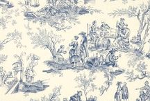 Toile Fabric prints