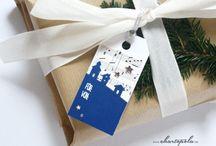 Geschenkanhänger // gift tags // etiquette cadeau