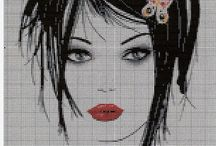 Cross stitch - women portraits