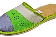 Sofie Genuine Leather House Slippers