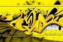 Graffiti Digital / Graffiti realizado en software de edición digital PS C4D ILUSTRATOR, etc.