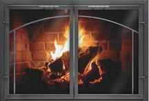 """Normandy Collection / The Normandy is a 1/8 welded aluminum 2"""" channel frame enclosure. It is available as an overlap or inside fit They are custom made to fit any fireplace. Mesh curtains are available at no additional charge"""