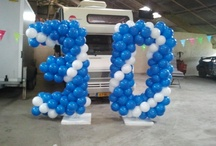 Ballondecoratie - Balloncijfers / Cijfers en logo's gemaakt van ballonnen zoals ik deze al eens heb geleverd aan klanten.