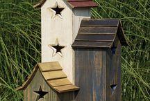 Bird houses / Σπιτάκια πουλιών ξύλινα