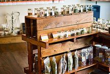 """Firelight Camps Provisions / Food, gear and souvenirs sold in a """"General Store"""" space with a clean, rustic-modern look and vibe. / by Emma Frisch"""