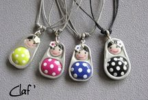 clay pendents