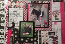 Rescue dog scrapbook pages for blog / Completed pages of shelter dogs and other