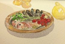 food / food painting / by shih catrain