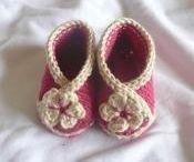 Tricot crochet chaussons bb