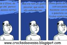 Crocks do avesso / Quadrinhos do site http://crocksdoavesso.blogspot.com.br/ #HQ #quadrinhos #tirinha #comics #comicsbook