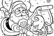 coloring pages (christmas)