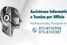 Pezzanera Office / Grafiche realizzate per il sito web pezzanera.it, azienda che offre assistenza informatica e vende computer, stampanti, fax