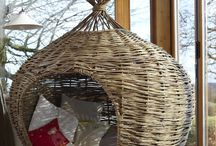 Onion shaped den / This is my most popular playhouse or den. The plant like form sits well in a garden and is equally popular with adults and children. Measures 1.5m diameter at widest point.